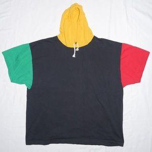 Vintage 90s Color Block Hoodie Tee